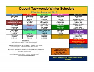dupont schedule